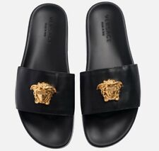 c9dc1e0ad6196d 🌴PalmSpringsHypeBeast🌴 Kith x Versace Leather Slides Size 7