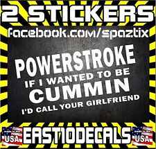 (2) POWERSTROKE diesel truck sticker decal blow smoke roll coal 2500 funny