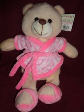Bear Mother Spa Day Stuffed plush Daisy Teddy wearing Pink Robe & Slippers Linzy