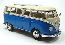NEU: VW Bus Bulli T1 (1963) 1:31 blau Modellauto ca. 14cm von WELLY Neuware!