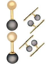 Assael 18K Yellow Gold And Pearl Cufflinks Set P3304