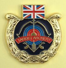 BRITISH TARGET ARCHERY ENAMELLED ARCHERY PIN BADGE