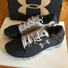 NEW Men's $140 UNDER ARMOUR Speedform Slingshot Sport Shoes Black Gray Size 13