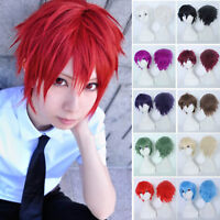 21 Color Halloween Cosplay Full Wig Short Straight Pixie Ombre Synthetic Hair
