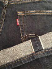 Levi's 505 redline selvegde jeans label 32x30 par bande 33 x 30 ourlet trous