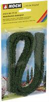 Noch 21514, Modellhecken, dunkelgrün 2 Stück, 1,5 x 0,8cm 50cm lang je, GMK
