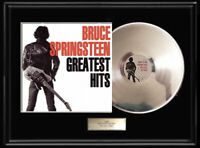 BRUCE SPRINGSTEEN GREATEST HITS ALBUM  WHITE GOLD PLATINUM TONE RECORD VINYL LP