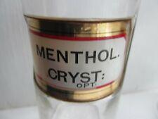 More details for vintage menthol.cryst: chemist jar