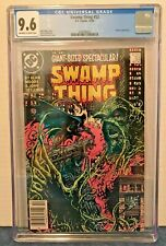 "SWAMP THING 53 CGC 9.6 O-W/WP NEWSTAND GIANT-SIZE BATMAN COV. & APP. ""DEATH ST"""