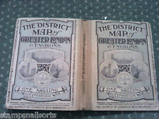 RARE District Map of Greater London Sampson Low Marston & Co Ltd 2nd Edition