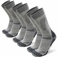 Hiking & Walking Socks 3 packs in Merino Wool, for Men Women Children, Trekking