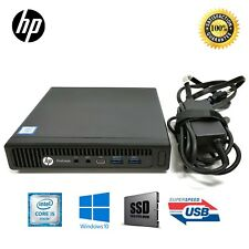 HP Desktop 600G2 MINI i5-6600T 6th 8GB 128GB/256GB/512GB SSD Win10 PRO Wifi