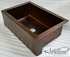 Ariellina Farmhouse 14 Gauge Copper Kitchen Sink Lifetime Warranty New AC1835