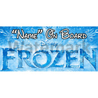 Disney Frozen Personalised Baby On Board Car Sign (7)