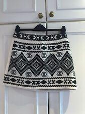 Topshop Petite Skirt Size 10 Cream And Black Mini