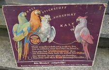 altes Pappschild Dünger Papagei Byerische Genossenschaft