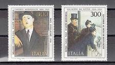 ITALIA 2 val 1984 NUOVI PITTORI AMEDEO MODIGLIANI E GIUSEPPE DE NITTIS  MNH**