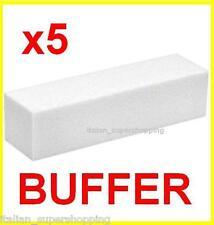 KIT 5 BUFFER X RICOSTRUZIONE UNGHIE UV NAIL ART GEL LIME MANICURE SMALTO KIT !!!
