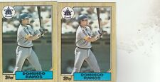 FREE SHIPPING-MINT-1987 Topps Seattle Mariners  #641 Domingo Ramos-2 CARDS