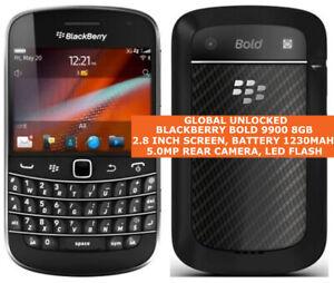 BLACKBERRY BOLD 9900 8GB BLACK Unlocked Gps Cell Phone Blackberry Os Smartphone