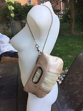 EUC MAGNES SISTERS gold/silver Super Soft Pebbled Leather Shoulder Bag/Wristlet