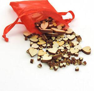 Streuherzen Streudeko Holz Hochzeit Tischschmuck Dekoherzen  1mm bis 1cm