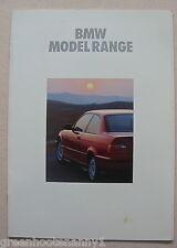 1992 BMW Model Range Brochure
