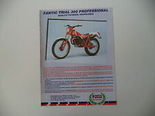 advertising Pubblicità 1985 MOTO FANTIC TRIAL 300 PROFESSIONAL