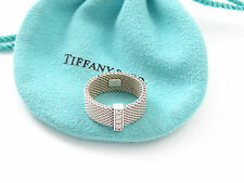 Tiffany & Co Silver Somerset Diamond Ring Size 8 - Retails For $765!