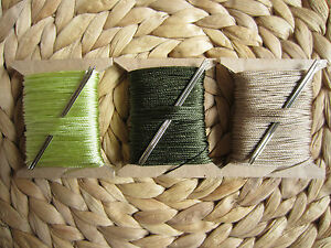 VERY STRONG 3/4mm THICK LEATHER SEWING THREAD  FOR HAND STITCHING + 2 NEEDLES G