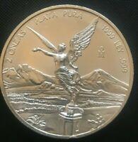1999   RARE Silver Mexico  2 OUNCE Libertad  .999 fine uncirculated #2