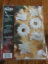 "Bucilla ""WHITE CHRISTMAS"" Holiday Felt Applique Kit 85319 Ornaments set of 6"