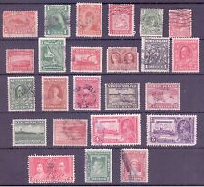 Newfoundland Stamps F-VF Cancels Set of 24 selected from Scott # 48 to 246