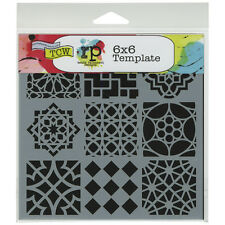 """Crafter's Workshop Template 6""""X6""""-Moroccan Tiles, Set Of 3"""