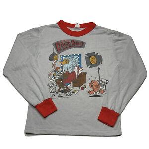 Disney Vintage 80s Who Framed Roger Rabbit 1987 Graphic Long Sleeve Shirt 12-14