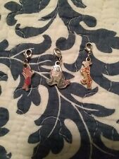 Disney Tigger, Eeyore & Piglet Charms outlined in Silver: New