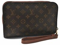 Authentic Louis Vuitton Monogram Orsay Clutch Hand Bag M51790 LV B5525