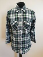 EE22 WOMENS SUPERDRY BLUE GREEN WHITE CHECK SLIM FIT CASUAL SHIRT UK S 8 34""