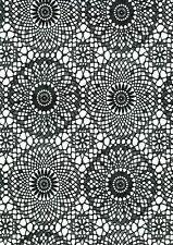 Klebefolie Spitze schwarz weiß Möbelfolie selbstklebende Folie Vintage 45x200 cm