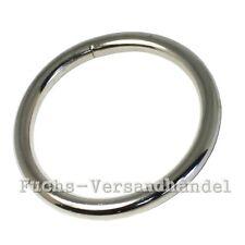 100 Pezzi o-Ring 30mm 4mm Anelli metallo O tondo Acciaio placcato in nickel