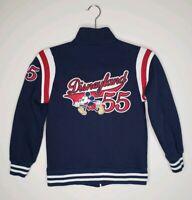 Disneyland 1955 Mickey Mouse Heavyweight Zipped Sweatshirt Jacket Size Medium