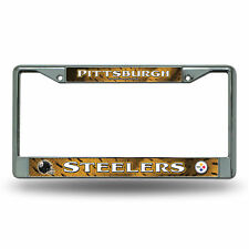 Pittsburgh Steelers NFL Chrome Metal License Plate Frame