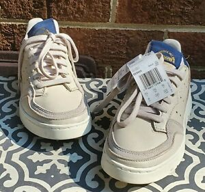 Adidas Supercourt Clear Brown Navy Lace Up Sneakers Shoes Casual Sz 4 NEW NWOB