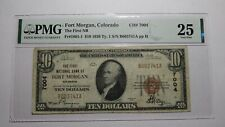 $10 1929 Fort Morgan Colorado CO National Currency Bank Note Bill #7004 VF25 PMG