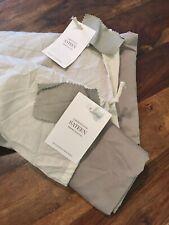 Restoration Hardware FULL Sateen Cotton Fitted Sheet & 2 Shams Pillowcase FOG