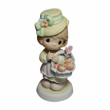 Precious Moments Figurine 115918 ln box Girl In Hat Holding Basket of Peaches
