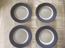 """Set of 4 Block Spal Blue Skies - 6-3/8"""" Bread or Appetizer Plates Portugal 1980"""