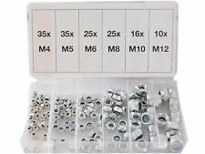 150 Hutmuttern METRISCH Muttern M3,M4,M5,M6,M8,M10 6-kant Mutter SORTIERBOX