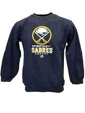 Buffalo Sabres NHL Majestic Fleece Boys Sweatshirt Blue, nwt Youth L