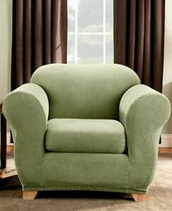 sure fit SAGE Stretch Stripe 2-Piece Chair Slipcover